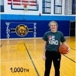 Messenger Scores her 1,000th Career Point