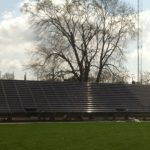 STANDS LOOK TO BE DONE BY MID-MAY