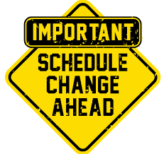 Re-Scheduled Athletic Dates and Times from Weather Cancellations