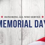 2019 Memorial Day – Monday May 27, 2019