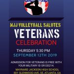 MJJ VOLLEYBALL SALUTE TO VETERANS