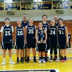 Blue River Valley Girls 7th Grade Basketball beat Henry County Tourney-Shenandoah 50-5