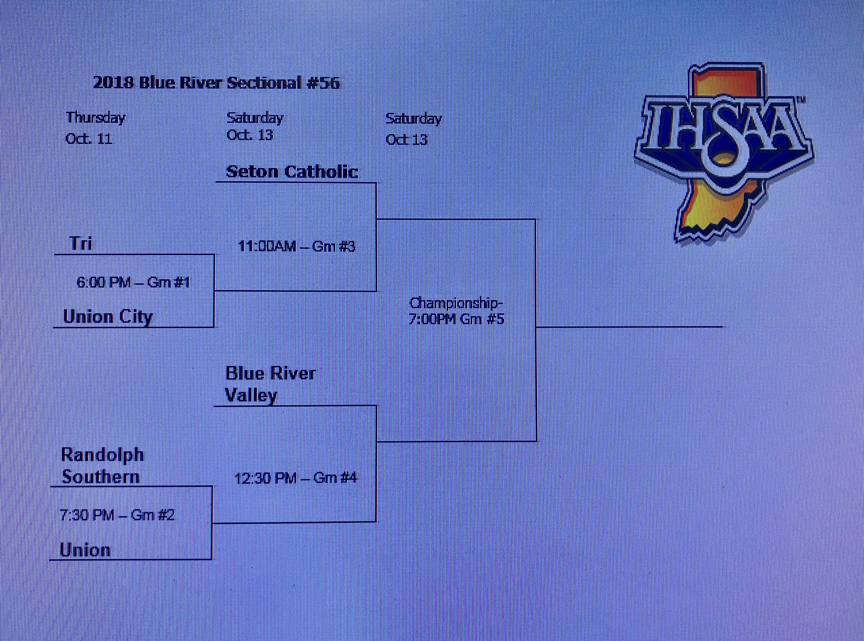 BLUE RIVER to HOST VOLLEYBALL SECTIONAL