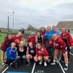 Girls Varsity Track finishes 1st place at Shenandoah/Wes-Del