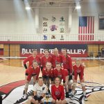 8th Grade Viking Volleyball beats Northeastern 2 – 1 in BRV Invite