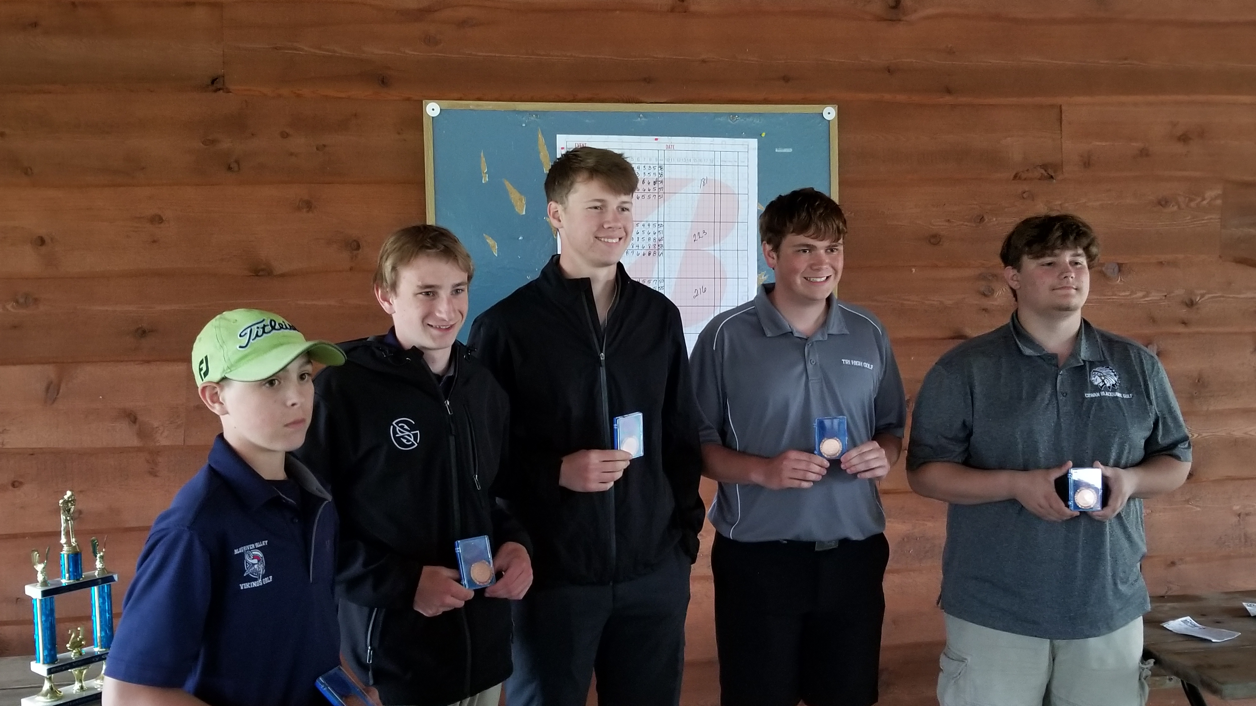Boys Varsity Golf finishes 3rd place at Tri Invite