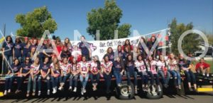 EHS VB Homecoming Parade on Float