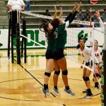 Arlington High School Girls Varsity Volleyball beat Bowie 3-0