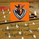 3rd Annual Cowboys Basketball Camp  June 13-15