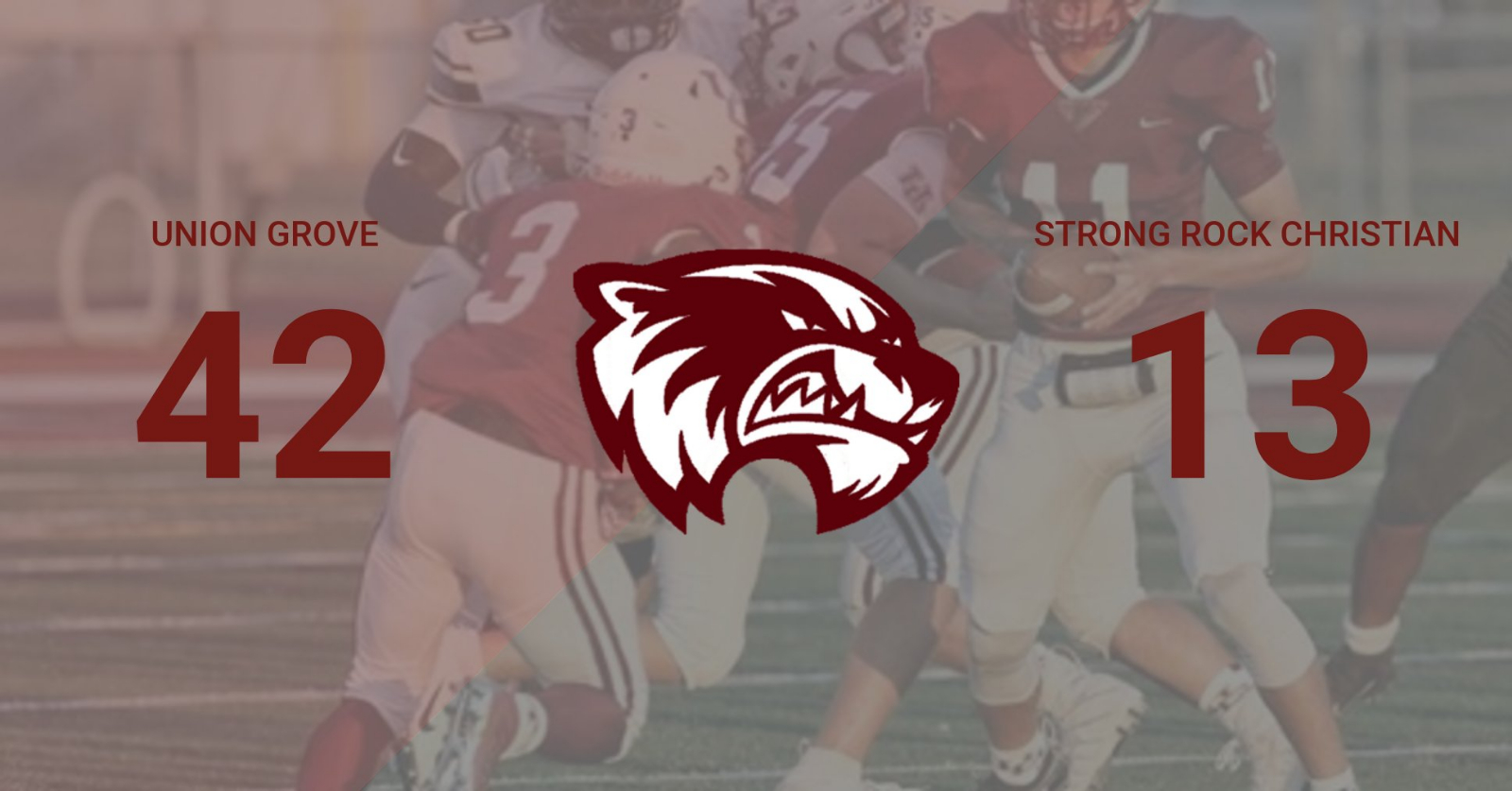Union Grove takes a big win over Strong Rock Christian on Friday 9/6