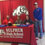 Savannah Ashford and Ashlie Hedemann sign their NLI to play Softball at Murray State