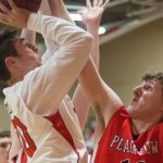 Sulphur High School Boys Varsity Basketball beat Plainview 56-42