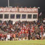 Sulphur High School Varsity Football beat Dickson High School 55-13