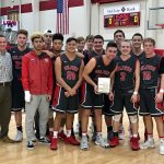 Boys Varsity Basketball beats Byng 45 – 42