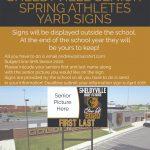 Spring Senior Athlete Yard Signs