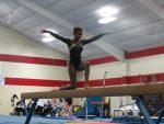 Gymnastics Split with Fishers and New Palestine