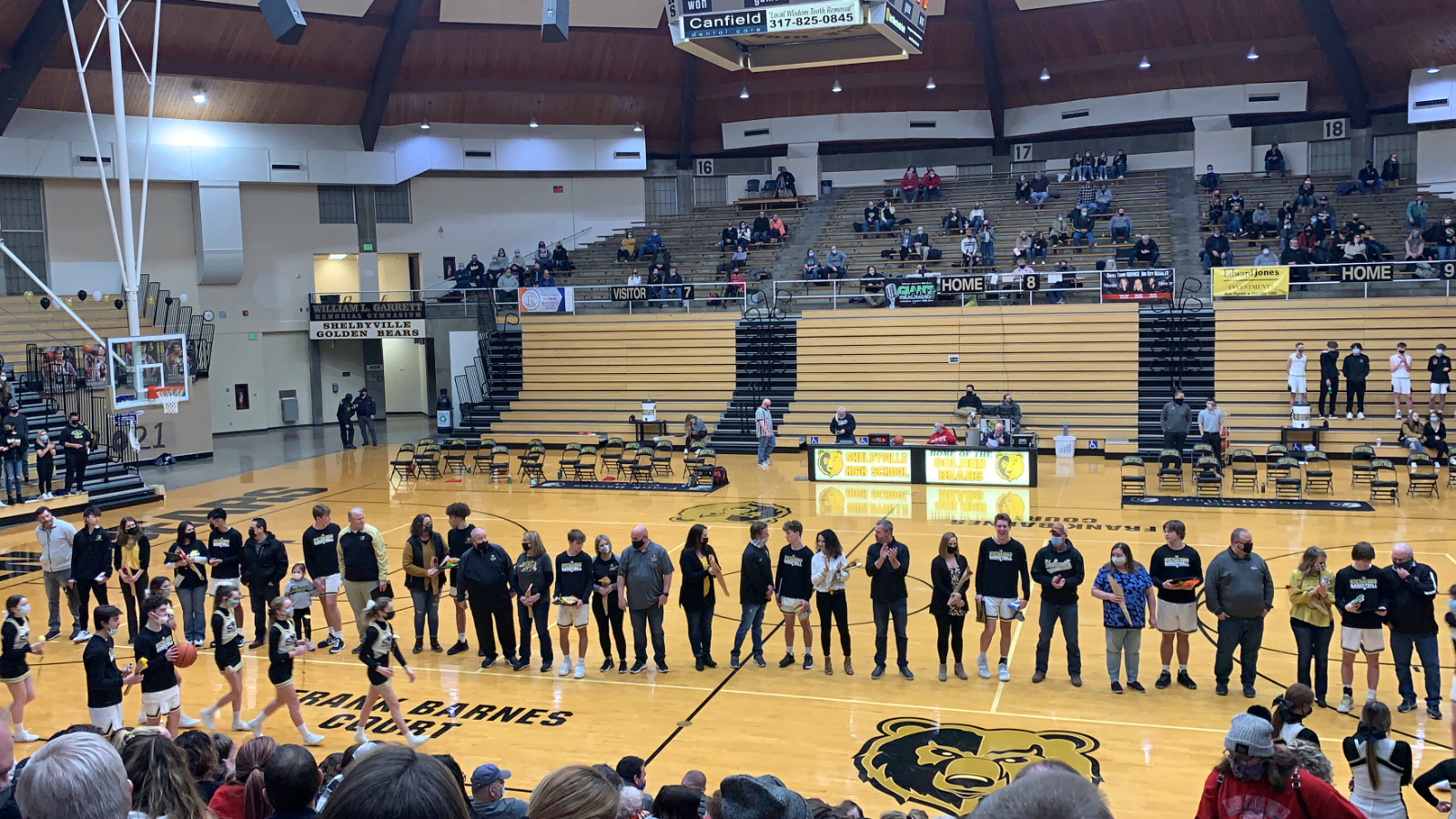 Boys Basketball and Cheer Senior Night Pictures