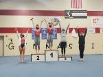 Gymnastics Winners vs. New Palestine and Fishers