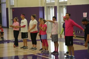 Dig Pink Staff Volleyball Game