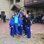 Mackinaw City High School Girls Varsity Cross Country finishes 1st place
