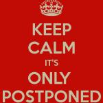 Tonight's game postponed!