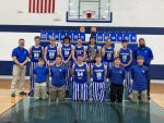 Boys Varsity Basketball are District Champs, beats Pickford 42 – 41