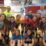 Mac Volleyball Awarded County Champions Trophy Today!