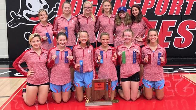 2017-18 Girls XC IHSAA Sectional Champs!