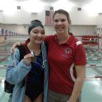 Girls Varsity Swimming beats Manchester 133 – 45