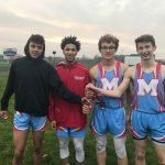 Boys Varsity Track finishes 2nd place at Northwestern High School (Northwestern Relays)