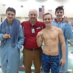 Boys Varsity Swimming beats Pioneer 143 – 38