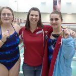 Girls Varsity Swimming beats Pioneer 143 – 39