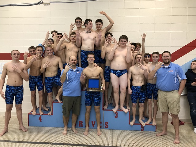 Boys Varsity Swim/Dive Capture 4th Consecutive TRC Title