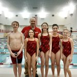 Coed Middle School Swimming beats Pioneer 119 – 67