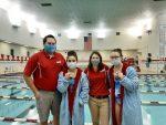 Girls Varsity Swimming beats Pioneer 115 – 68