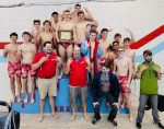 Boys Varsity Swimming finishes 1st place at Boys TRC Meet
