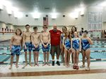 Coed Middle School Swimming beats Pioneer 142 – 43