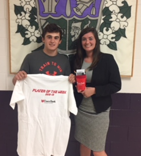 Ty Swaim named JRHS Essex Bank Player of the Week- Sept 21