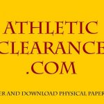 Athletic Clearance Tutorial