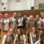Clairemont High School Girls Varsity Volleyball beat Hoover High School 3-2