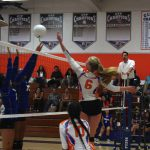 Clairemont High School Girls Varsity Volleyball falls to Mira Mesa High School 3-2