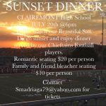 Football Sunset Dinner Fundraiser – July 20th 6pm
