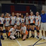 Varsity girls vb takes 2nd place at Montgomery Tourney