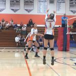 Girls Varsity Volleyball falls to San Diego 3 – 2