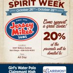 Jersey Mike's Fundraiser for Girl's Water Polo