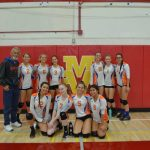 Varsity Girls Volleyball takes 1st place in Silver