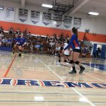 Girls Varsity Volleyball beats Santana 3 – 2