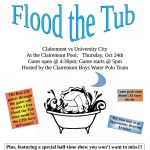 Flood The TUB!!! Thursday 10/24/19 at 5pm!