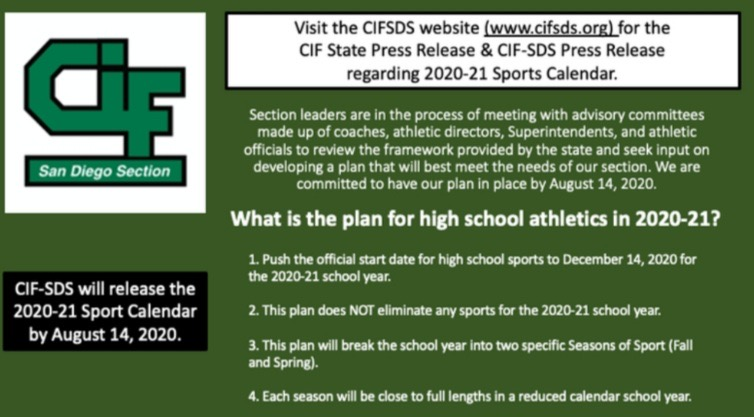 CIF 20/21 Calendar and Clairemont