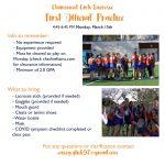 Girls Lacrosse Practice Starts!